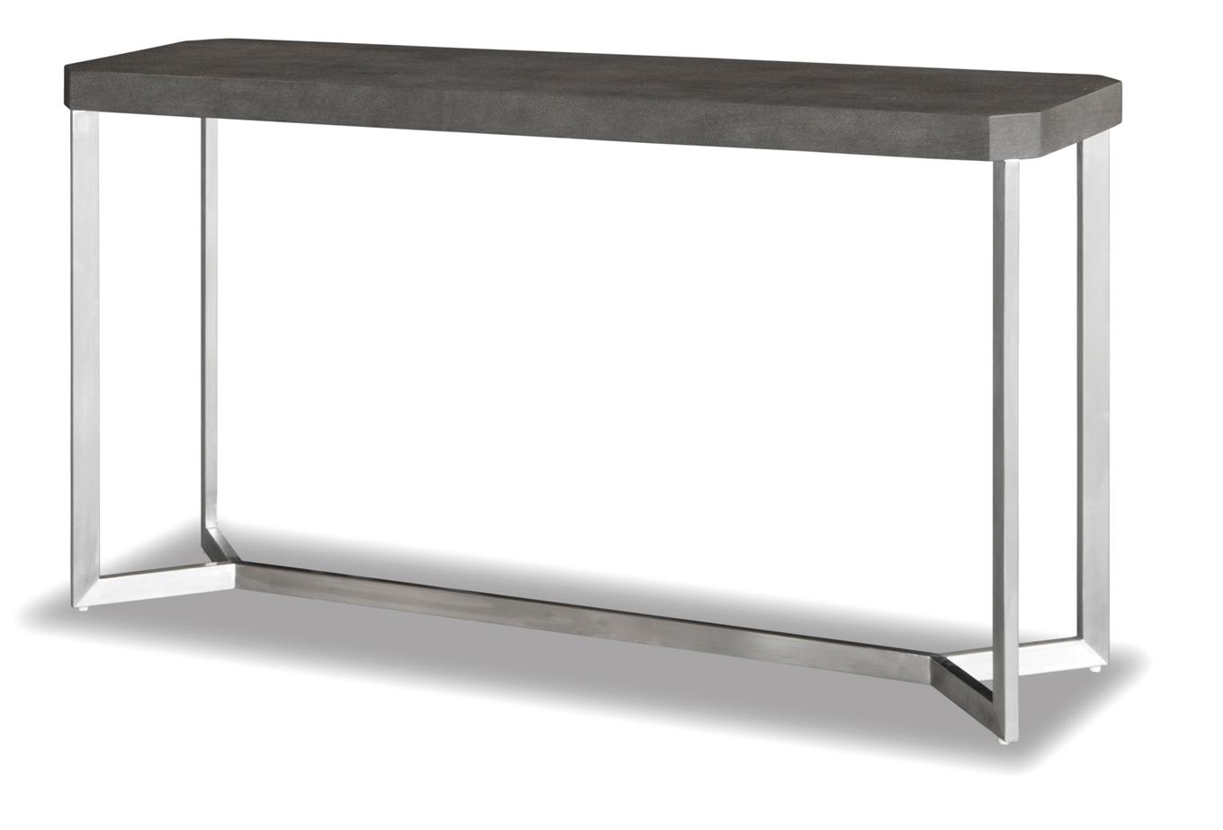 Melbourne console table ap mls 601632 console tables tables melbourne console table ap mls 601632 shagreen w brushed stainless geotapseo Gallery